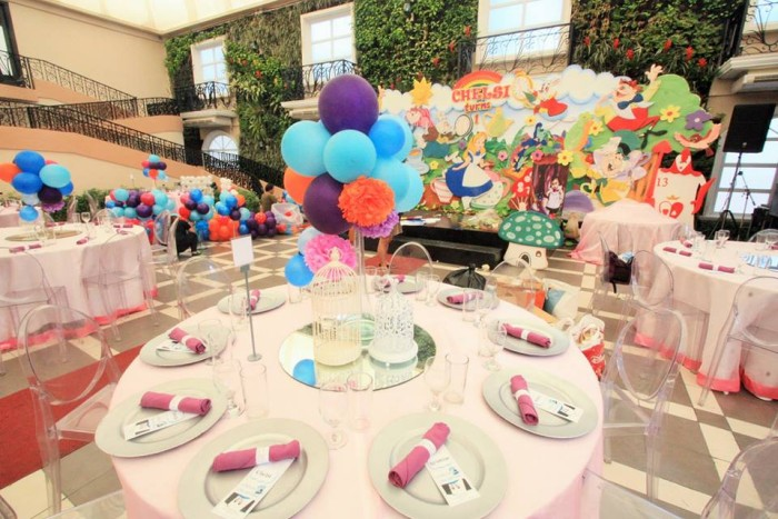 Alice in Wonderland themed birthday party at Hanging Gardens