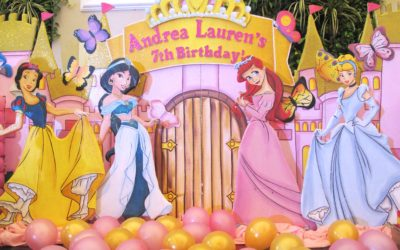 Andrea's 7th Birthday, A Disney Princess Dream